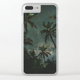 Exotic Jomalig Island Philippines at beautiful starry night Clear iPhone Case