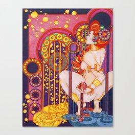 Red Head Klimt Canvas Print