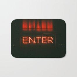 Neon sign inspiration - ENTER Bath Mat