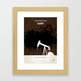 No102 My GIANT minimal movie poster Framed Art Print