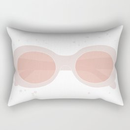 pink sunglasses Rectangular Pillow