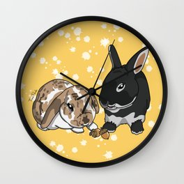 Eva and Alvis Wall Clock