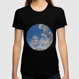 larch in snow, Siberia, Russia T-shirt