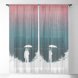 Meteoric rainfall Sheer Curtain