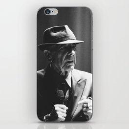 Leonard Cohen concert photo iPhone Skin