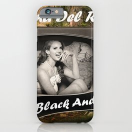 TV in Black and White iPhone Case