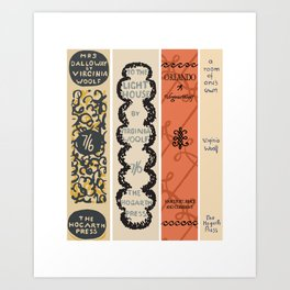 First Edition Book Spines – Virginia Woolf 1925-1929 Art Print