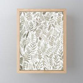 Grey Botanical Framed Mini Art Print