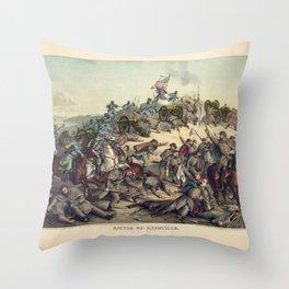 Civil War Battle of Nashville December 15-16 1864 Throw Pillow