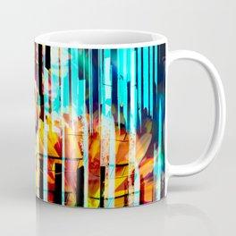 Floral Keys [orange+blue] Coffee Mug