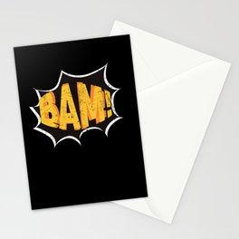 Super Hero Comic Book Onomatopoeia. Bam! Stationery Cards