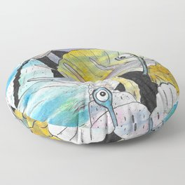 Who's that Snail? Floor Pillow