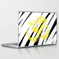 om Laptop & iPad Skins featuring OM by Rebecca Bear