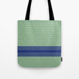 Rounded Green Tote Bag