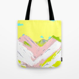 Soft Color Mountain Tote Bag