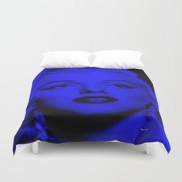 Marilyn in Blue. Pop Art  Duvet Cover