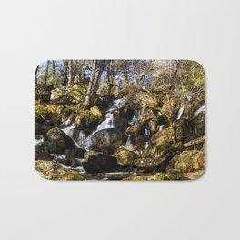 Becky Falls with texture Bath Mat