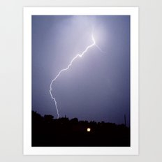 electric sky Art Print