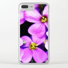 Flowers Purple  Blütenmeer Clear iPhone Case