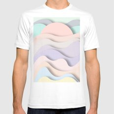Wave I MEDIUM White Mens Fitted Tee