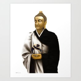 "SIDDHARTHA GAUTAMA Buddha      ""The Planet Earth Awards, Beyond Superstition"" Art Print"