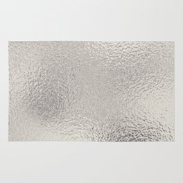 Simply Metallic in Silver Rug