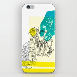 Vintage BSA Super Rocket Motorcycle Art Print iPhone Skin