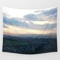 law Wall Tapestries featuring Dundee Law 2 by RMK Photography