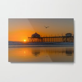 Seagull Over Ruby's Metal Print