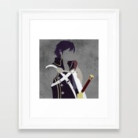 fire emblem awakening Framed Art Prints featuring Chrom Fire Emblem Awakening by MKwon