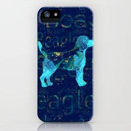 Decorative Beagle  dog iPhone Case