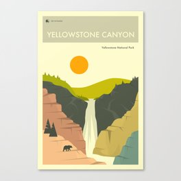 Yellowstone National Park Poster Canvas Print