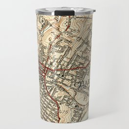 Vintage Map of Charlottesville Virginia (1949) Travel Mug