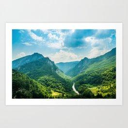 Landscape - Green Mountains  Art Print