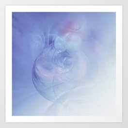 Blown Glass in Pastel Art Print