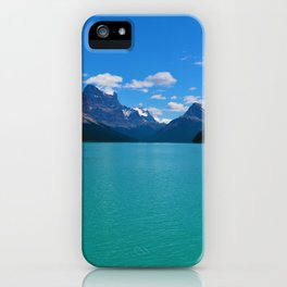 """Hall of Gods"" Maligne Lake in Jasper National Park, Canada iPhone Case"