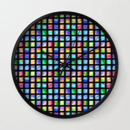 Peacock Tile Wall Clock