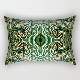 Abstract #1 - III Verdant Rectangular Pillow