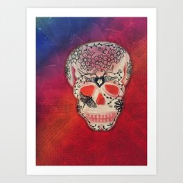 DragonFly & Heart Day of the Dead / Dia de los Muertos Series Art Print