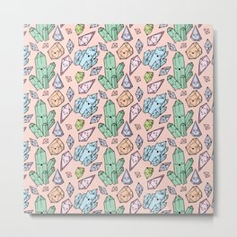 Cute Crystals Metal Print