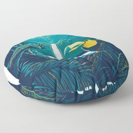 costa rica rainforest Floor Pillow