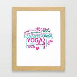 Benefits of Yoga Framed Art Print