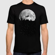 The Moon Swing LARGE Mens Fitted Tee Black
