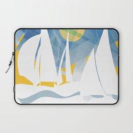Geometric Sailing Boats Laptop Sleeve
