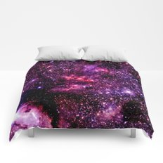 galaXY Pink & Purple Stars Comforters