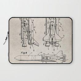 Nasa Space Shuttle Patent - Nasa Shuttle Art - Antique Laptop Sleeve