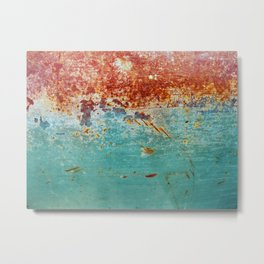 Teal Rust Metal Print