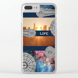 Cosmic Life Clear iPhone Case