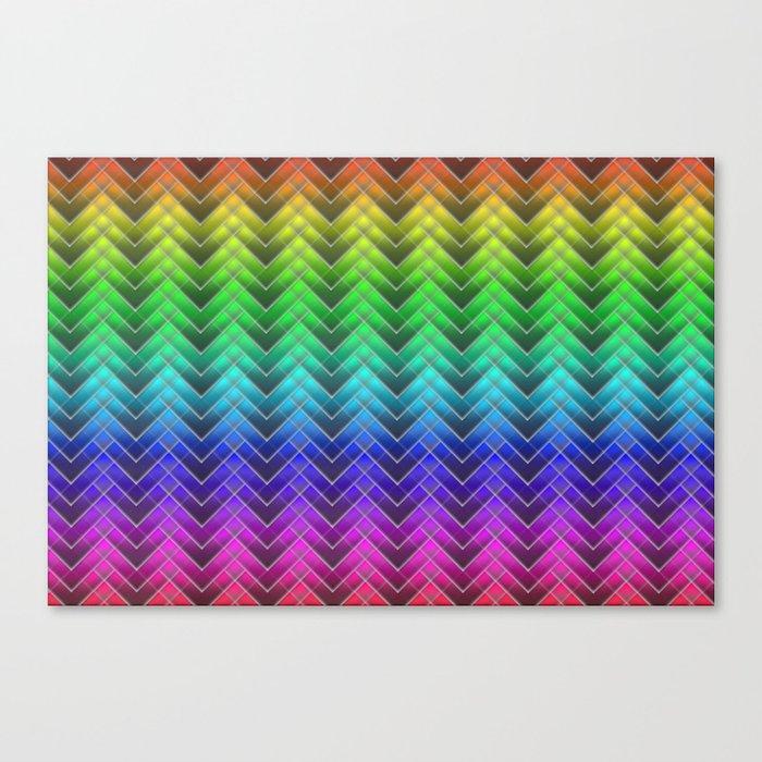 Zigzag pattern rainbow colors Canvas Print