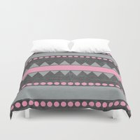 aztec Duvet Covers featuring Aztec by her art